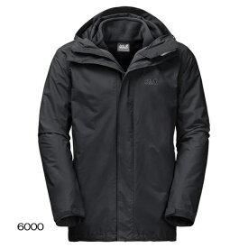 ○ジャックウルフスキン W1105743_6000・アイスランド3イン1 メンズ(ブラック)【40%OFF】