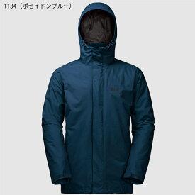 ○ジャックウルフスキン W1105743_1134・アイスランド3イン1 メンズ(ポセイドンブルー)【40%OFF】