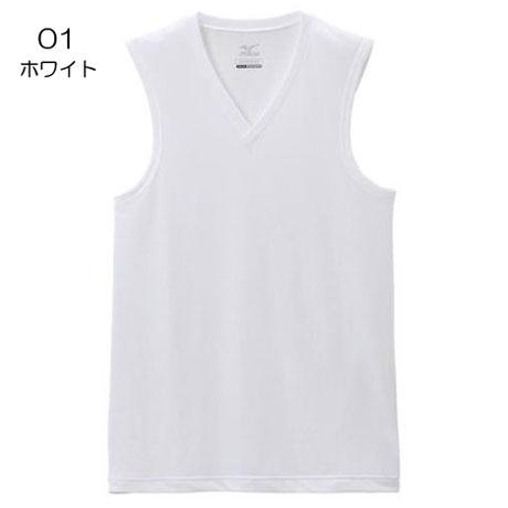 ○ミズノ C2JA8107・ドライサイエンスVネックノースリーブシャツ(メンズ)