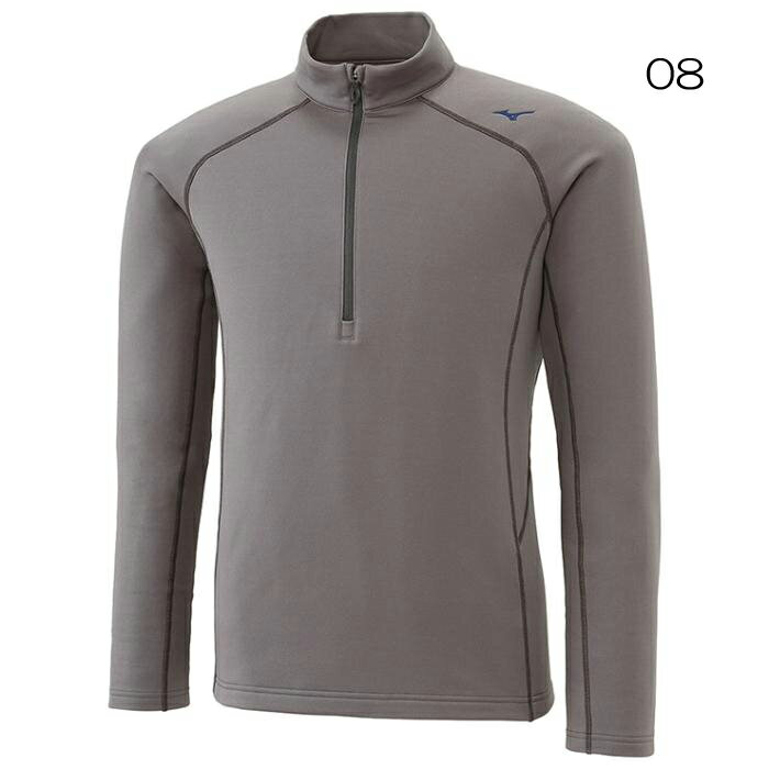○ミズノ A2JA6563・ブレスサーモ ストレッチ ジップネックシャツ(メンズ)【45%OFF】