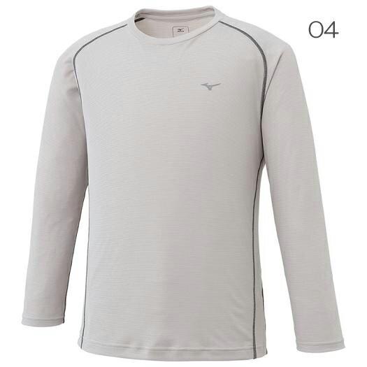 ○ミズノ A2JA6036・ドライアクセルボーダー 長袖クルーネックシャツ(メンズ)【50%OFF】