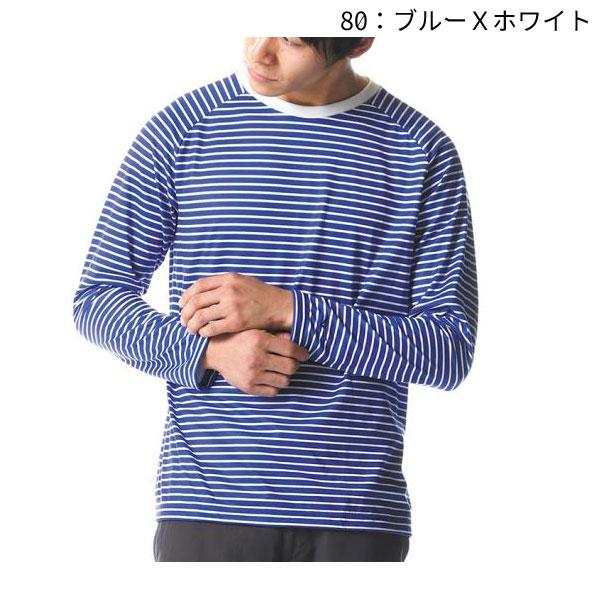 ○ミズノ A2MA8027・クイックドライボーダー長袖クルーネックシャツ(メンズ)【50%OFF】