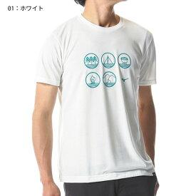 ○ミズノ A2MA8046・スパン天竺半袖プリントTシャツ(メンズ)【50%OFF】
