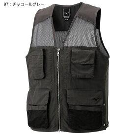 ○ミズノ A2ME8022・バックメッシュベスト(メンズ)【46%OFF】