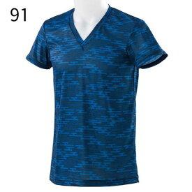 ○ミズノ C2JA8108・Vネック半袖シャツ(メンズ)【45%OFF】
