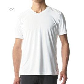 ○ミズノ A2MA8056・ハイドロ銀チタン 半袖Vネックシャツ (メンズ)【47%OFF】