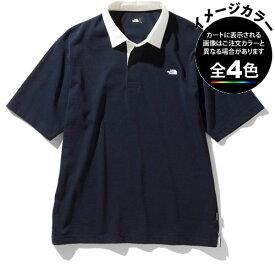 ○ノースフェイス NT22035・ショートスリーブ ラグビーポロ(メンズ)