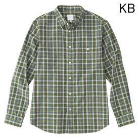 ○ノースフェイス NR11813・ロングスリーブ リネンチェックシャツ(メンズ)【31%OFF】