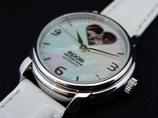 正規品エポスepos 4314HTWHP MOPオープンハート 自動巻き女性に着けてほしい時計