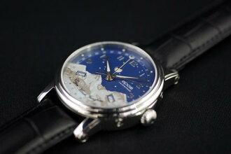 """三日曆皮革錶帶,真正的有趣的 EPOS 3391""""少女峰山""""月亮相位""""夜空""""工匠是怡人的餘味"""