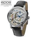 正規品エポスEPOS 34350OHSLLTD999「スケルトン腕時計」 「手巻き」美しいスケルトン 裏秒針あり【世界限定999本】シリアルナンバー…