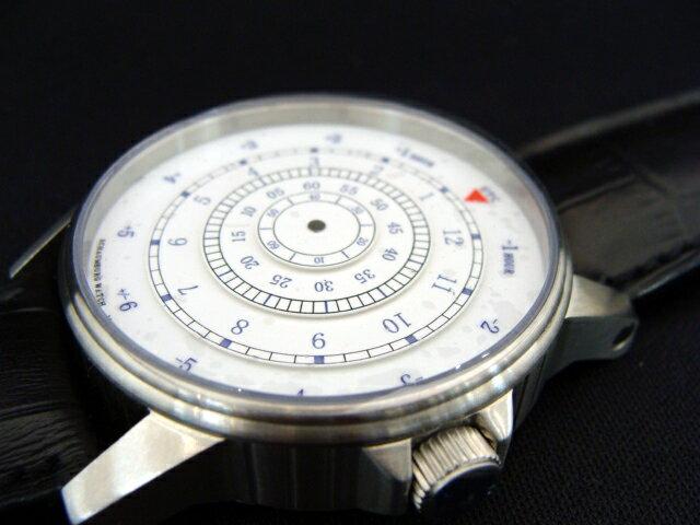 MADE IN GERMANY ドイツ製 シャウボーグウォッチ 時・分・秒を全てディスクで表示するユニークなダイヤルディスプレイ 自動巻き 送料無料【DISK-1】