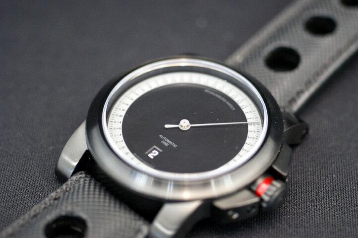 国内正規品MADE IN GERMANY ドイツ製 シャウボーグウォッチ 1本針時計 デイト付き ブラックIPケース  自動巻き 送料無料 入荷しました【土日祝日発送可能】