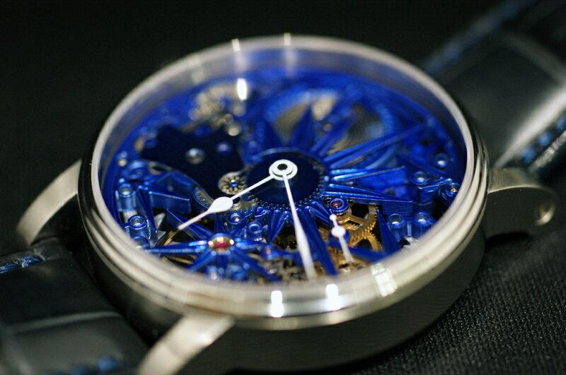 MADE IN GERMANY ドイツ製 シャウボーグウォッチ BLUE ICE  「スケルトン ブルーアイス」 手巻き 送料無料 フルスケルトンモデル【smtb-m】【】定価¥510000+税