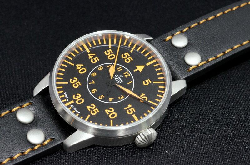 【あす楽】正規品【Laco ラコ】「ドイツ製 パイロットウォッチ」【パレルモ】 リアルミリタリー腕時計の復刻モデル【自動巻き】42mmケース メンズ紳士用 【861966】