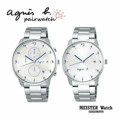 国内正規品アニエスベー【agnes b.】【MARCELLO!】腕時計 電池式クオーツ ペアウォッチ カップル【2本の価格です】【FBRW988&FBRK997】