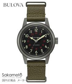 【】国内正規品【BULOVA】ブローバ 腕時計 メンズ 【アーカイブコレクション】【Military】【ミリタリー】自動巻き 38ミリケース【98A255】