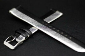 正規品ハミルトン 純正ベルト  限定ベンチュラ用 エルビス アニバーサリーモデル用 シルバーxブラック 純正ストラップ 取付18mm