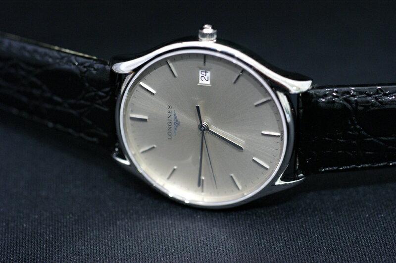 【あす楽】正規品ロンジンlongines  「ラ・グランクラシック」 La Grande Classique メンズウォッチ 35mmケース クォーツ腕時計 ステンレス 革ストラップ【L4.759.4.72.2】【L47594722】