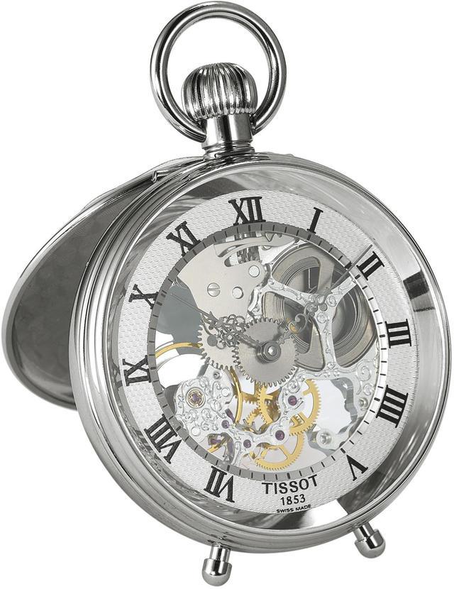国内正規品TISSOT ティソ ポケットウォッチ 「スタンドアローン」シルバー色 手巻きモデル 置き時計としても使用可能 T86.6.701.33【T86670133】