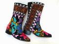 《待望の新入荷!!》可愛い刺繍がお薦め【エスニックでフォークロア!!】トルコ製ウズベキスタンのスザニを使ったブーツ:37号(日本サイズ23.5)【RCP】【02P05Sep15】