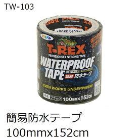 アサヒペン TW-103 T-REX 屋内外 簡易防水テープ 100x152cm 黒色(ウオータープルーフテープ)