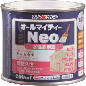 アトムハウスペイント(塗料/ペンキ/ペイント)水性オールマイティーネオ200ML ライム