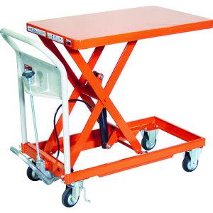 TRUSCO ハンドリフタ 250kg 500X800 オレンジ 〔品番:HLFA-S250〕[1157832]「送料別途見積り,法人・事業所限定」【大型】