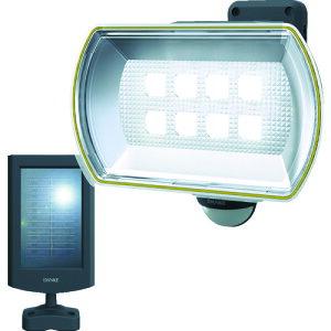 ダンケ 8Wワイド フリーアーム式LEDソーラーセンサーライト 〔品番:E4680L〕[1230091]
