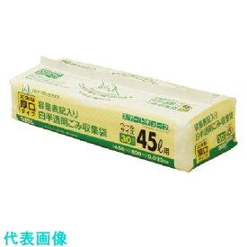 サニパック 白半透明ごみ袋スマートキューブ45L 30枚 《16冊入》〔品番:HT45〕[1349436×16]1100
