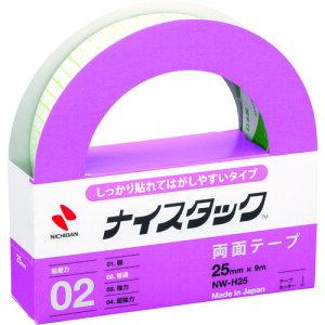 ニチバン 両面テープ ナイスタックしっかり貼れて剥がしやすいタイプNW−H25 25mmX9m 〔品番:NW-H25〕[1363515]