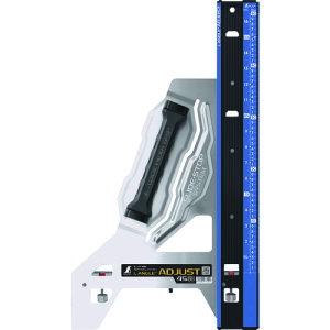 シンワ 丸ノコガイド定規 エルアングルPlus アジャスト 45cm 併用目盛 〔品番:73180〕[1477590]
