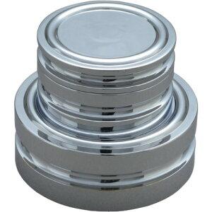 ViBRA 円盤分銅 黄銅クロムメッキ 1KG M2級 〔品番:M2DB-1K〕[1525128]1650