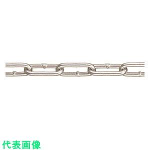 水本 強力アルミチェーン AL−6 長さ・リンク数指定カット 29.1〜30m未満 〔品番:AL-6-30C〕