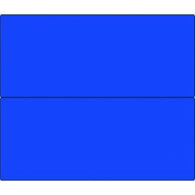 つくし フラットパネル法定表示板(ブルー無地) 4点用2段型 (タテ2分割 〔品番:HR-154CW〕[1847930]880