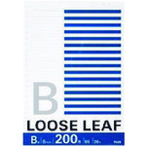 プラス ルーズリーフ NL−200B B5 26穴 B罫 200枚 (76806) 〔品番:NL-200B〕[1962914]「送料別途見積り,法人・事業所限定,取寄」