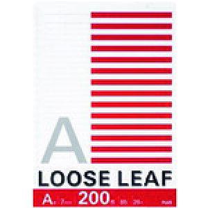 プラス ルーズリーフ NL−200A B5 26穴 A罫 200枚 (76805) 〔品番:NL-200A〕[1966085]「送料別途見積り,法人・事業所限定,取寄」
