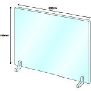 IM 飛沫感染対策アクリルパネル2窓無スタンド式(スタンド2個付き透明アクリルW600*H550*3mm) 〔品番:AMACRYP2〕[2153018]1100「送料別途見積り,法人・事業所限定,直送」