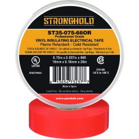 ストロングホールド StrongHoldビニールテープ 耐熱・耐寒・難燃 プロ仕様グレード オレンジ 幅19.1mm 長さ20m ST35−075−66OR 《20個入》〔品番:ST35-075-66OR〕[2167610×20]「送料別途見積り,法人・事業所限定,取寄」