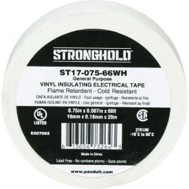 ストロングホールド StrongHoldビニールテープ 一般用途用 白 幅19.1mm 長さ20m ST17−075−66WH 《20個入》〔品番:ST17-075-66WH〕[2167621×20]「送料別途見積り,法人・事業所限定,取寄」