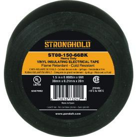 ストロングホールド StrongHoldビニールテープ 耐熱・耐寒・難燃 ヘビーデューティーグレード 黒 幅38.1mm 長さ20m ST88−150−66BK 《20個入》〔品番:ST88-150-66BK〕[2167622×20]「送料別途見積り,法人・事業所限定,取寄」
