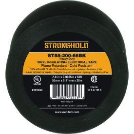 ストロングホールド StrongHoldビニールテープ 耐熱・耐寒・難燃 ヘビーデューティーグレード 黒 幅50.8mm 長さ20m ST88−200−66BK 《20個入》〔品番:ST88-200-66BK〕[2167623×20]「送料別途見積り,法人・事業所限定,取寄」