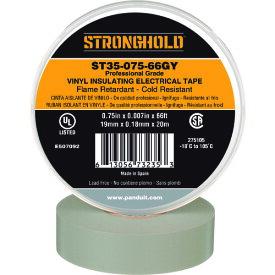 ストロングホールド StrongHoldビニールテープ 耐熱・耐寒・難燃 プロ仕様グレード グレー 幅19.1mm 長さ20m ST35−075−66GY 《20個入》〔品番:ST35-075-66GY〕[2167625×20]「送料別途見積り,法人・事業所限定,取寄」