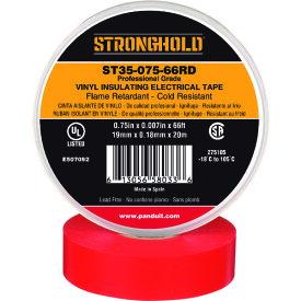 ストロングホールド StrongHoldビニールテープ 耐熱・耐寒・難燃 プロ仕様グレード 赤 幅19.1mm 長さ20m ST35−075−66RD 《20個入》〔品番:ST35-075-66RD〕[2167626×20]「送料別途見積り,法人・事業所限定,取寄」