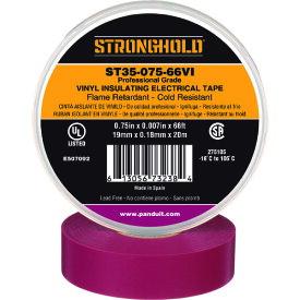 ストロングホールド StrongHoldビニールテープ 耐熱・耐寒・難燃 プロ仕様グレード 紫 幅19.1mm 長さ20m ST35−075−66VI 《20個入》〔品番:ST35-075-66VI〕[2167631×20]「送料別途見積り,法人・事業所限定,取寄」