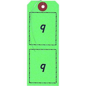 OP 連番荷札 緑 1〜100 〔品番:BF-106-GN〕[2370401]「送料別途見積り,法人・事業所限定,取寄」