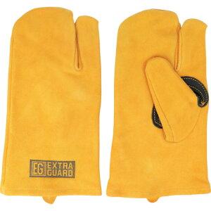 トワロン 牛床革手袋 EXTRAGUARD EG−013 TAKIBI 3本指 《5双入》〔品番:EG-013〕[2457489×5]「送料別途見積り,法人・事業所限定,取寄」