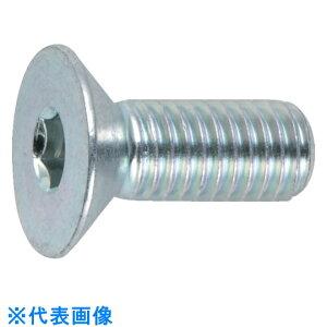 TRUSCO 六角穴付皿ボルト三価 白 全ネジ M6X15 20本入 〔品番:B773-0615〕[3002233]