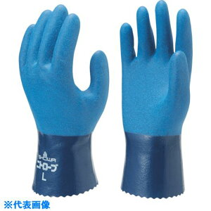 ショーワ ニトリルゴム手袋 No750ニトロ−ブ ブルー Sサイズ 〔品番:NO750-S〕[3548007]