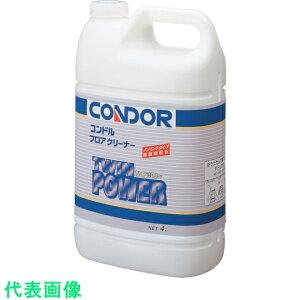 コンドル 床用洗剤 フロアクリーナー「ツインパワー」 4L 〔品番:C301-04LX-MB〕[3568032]